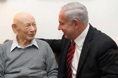 Binyamin and Betzion Netanyahu picture on Facebook