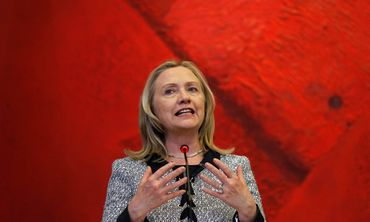 US Secretary of State Hillary Clinton in Brazil - Photo: REUTERS/Ueslei Marcelino