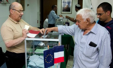 French-Israeli citizens vote at French consulate