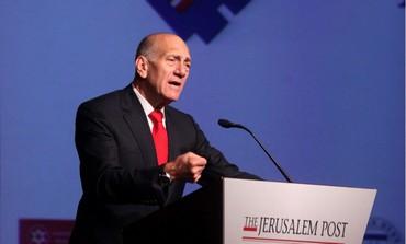 Ehud Olmert at the Jerusalem Post Conference - Photo: Marc Israel Sellem