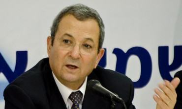 Ehud Barak at conference