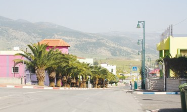 Lebanese-Israeli bordertown of Ghajar