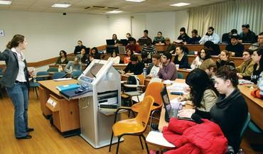 Students at lecture at an Israeli university - Photo: Ariel Jerozolimski
