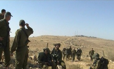 Nahal brigade soldiers carry out drill