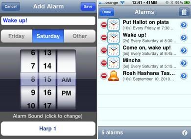 Shabbat Alarms