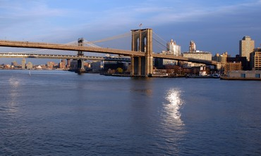 The Brooklyn Bridge in New York City [stock photo]