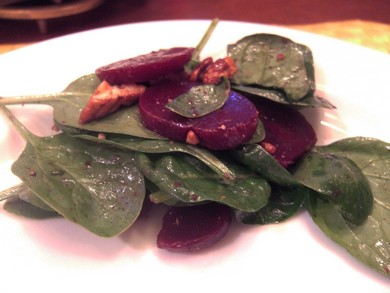 Spinach and Beet Salad (Courtesy)