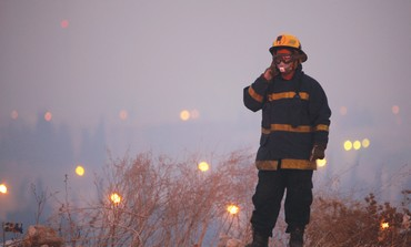 Firefighter during Carmel fire