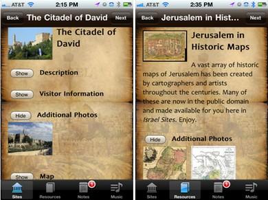 Israel Sites App
