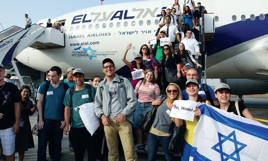 Olim arrive in Israel with Nefesh B'Nefesh