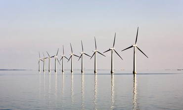OFFSHORE windfarm near Danish island of Samso