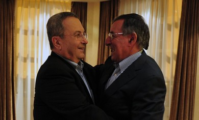 Ehud Barak and Leon Panetta