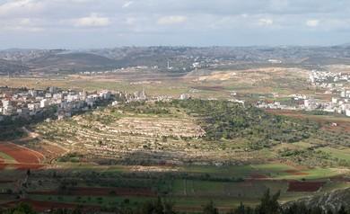 Gibeon from Nebi Samwil (BiblePlaces.com)