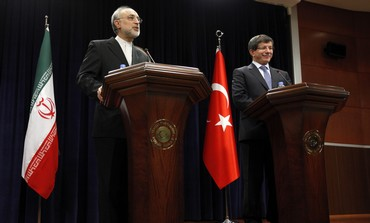 Iran FM Salehi with Turkish counterpart Salehi