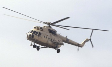 Egyptian military helicopter