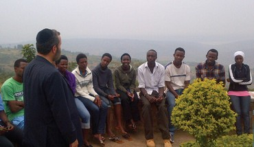 SHMULEY BOTEACH with Rwandan students