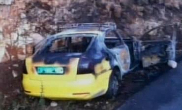 Palestinian vehicle damaged in attack - Photo: Screenshot