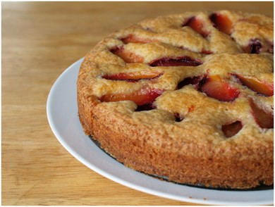 Plum cake with lime and rose (Gayle Squires)