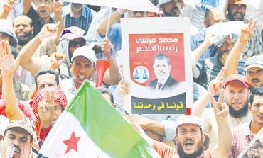 Muslim Brotherhood supporters in Cairo