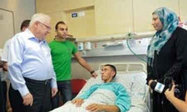 Knesset Speaker Reuven Rivlin visits Jamal Julani