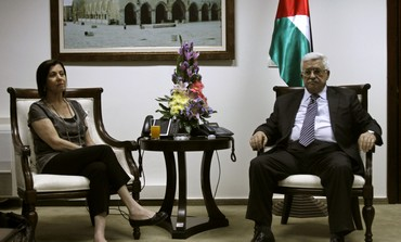 Abbas de la Autoridad Palestina acoge líder de Meretz Gal-On en Ramallah