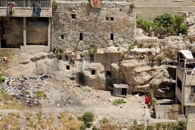 Silwan tombs (BiblePlaces.com)