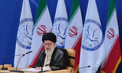 Iranian Supreme Leader Ali Khamenei at NAM Summit.
