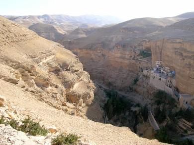 Wadi Kelt St. George's Monastery (BiblePlaces.com)