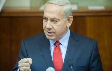 Prime Minister Binyamin Netanyahu at cabinet meeting - Photo: Pool/Emil Salman