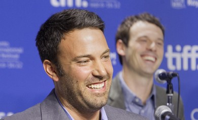 Ben Affleck at news conference to promote