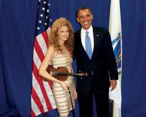 Ben-Ari with US President Obama (Courtesy)