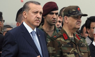 Turkish PM Erdogan with Army Chief Basbug [file]