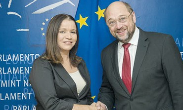 Shelly Yacimovich with EU President
