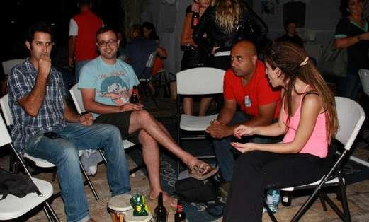Jam Session in Succa Atarim Square (Photo: Moshe Goldberg)