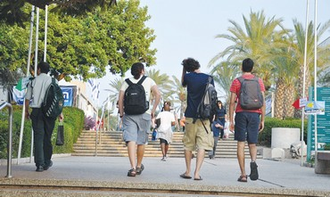 Students at Tel Aviv University
