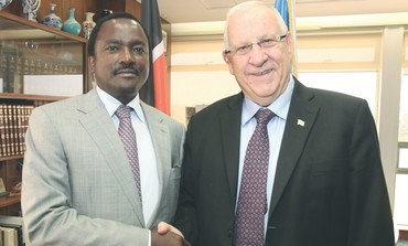 Rivlin with Kenyan VP Musyoka