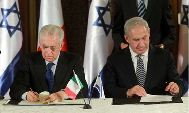 PM Netanyahu with Italian counterpart Mario Monti - Photo: Marc Israel Sellem/The Jerusalem Post