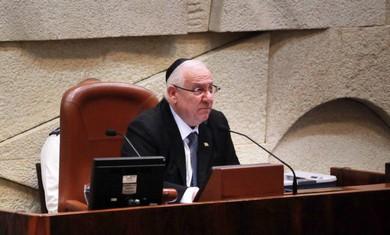 Knesset speaker Reuven Rivlin.
