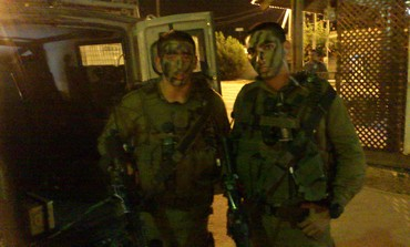 Kfir Brigade soldiers in Azun (Yaakov Lappin)