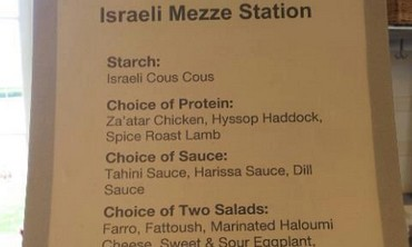 Menu of Israeli Mezze Station