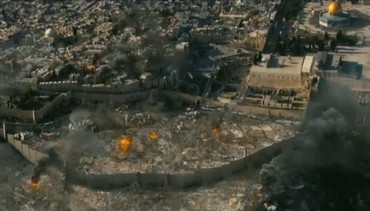 Jeruslem under attack in scene from World War Z (screenshot)