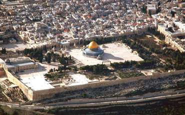 Temple Mount aerial (Bibleplaces.com)