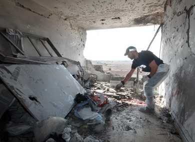 Inside view of Kiryat Malachi home hit by rocket
