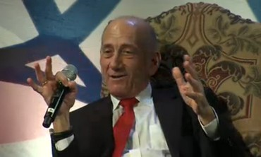 Olmert speaks at Saban Forum in Washington