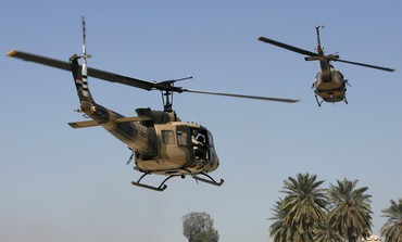 Iraqi Air Force Huey II helicopters [illustrative] - Photo: REUTERS/Erik de Castro