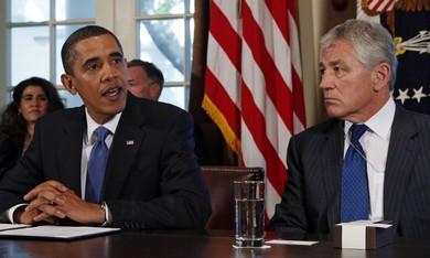US President Barack Obama and Chuck Hagel
