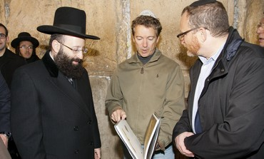 Republican Sen. Rand Paul in Jerusalem