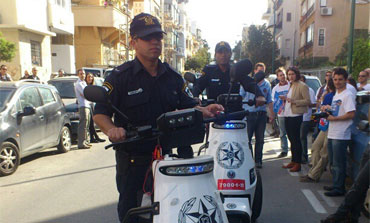 Israeli police patrolling in Tel Aviv on Election Day, January 22, 2013.