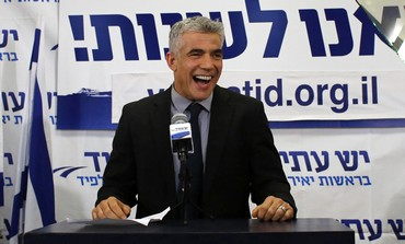 Yair Lapid addressing supporters in post election speech, January 22, 2013.