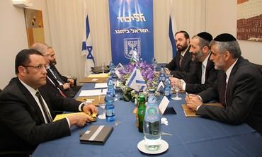 The Shas triumvirate with the Likud Beytenu team